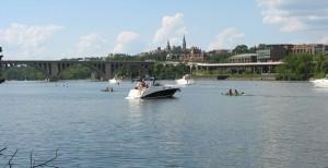 Georgetown University and Key Bridge