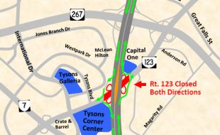 Route 123 Closed June 12 and June 13, 2010