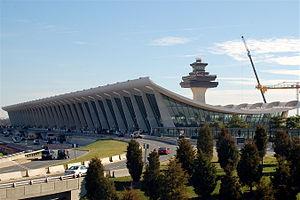 Main terminal of Washington Dulles Internation...
