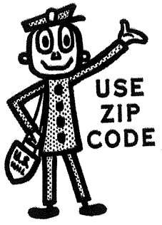 Mr. ZIP promoted the use of ZIP codes for the ...