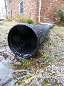 House gutter downspout extension