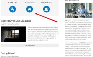 real estate blog page design