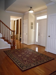 Entry Foyer with accent rug