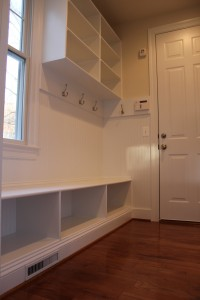 Mud Room Vienna Virginia real estate Sekas Homes