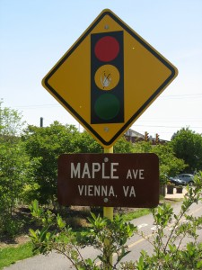 Maple Ave and W&OD Intersection Vienna VA