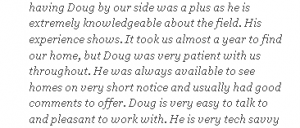 Comments about Doug Francis Realtor