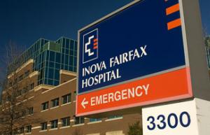INOVA Fairfax ER Sign