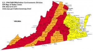 radon map virginia