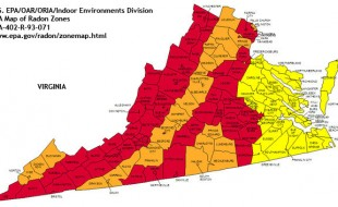 radon map virginia