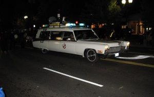 Ghost Busters in Vienna Virginia halloween parade