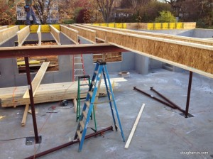 joists lay on steel I-Beam