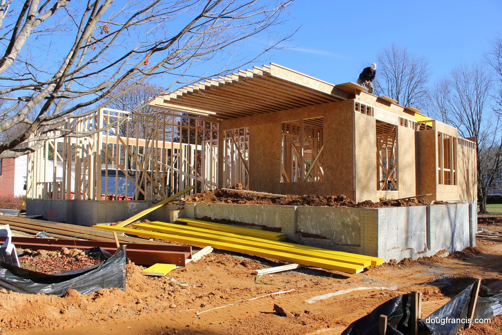 Custom built homes in vienna construction site 101 for House framing 101