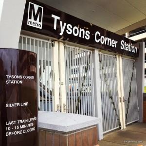 Tysons Corner Virginia Silver Line Metro Station