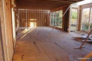 interior photo inside house under construction Vienna virginia