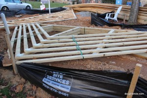 Roof Truss system for new construction in Vienna VA