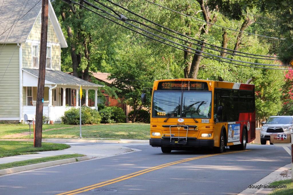 Silver Line Commuter Bus Vienna VA Beulah Road