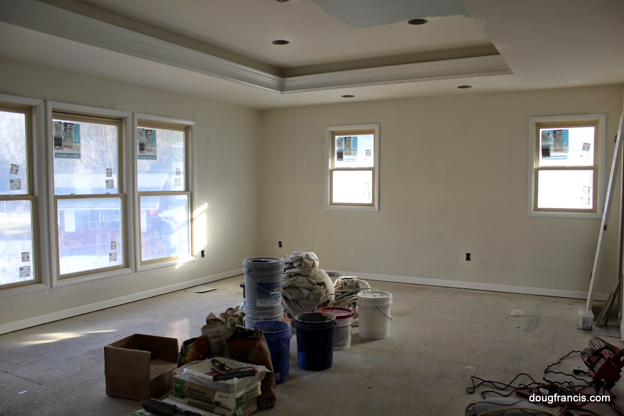 Expanding your colonial 3 car garage with master bedroom above