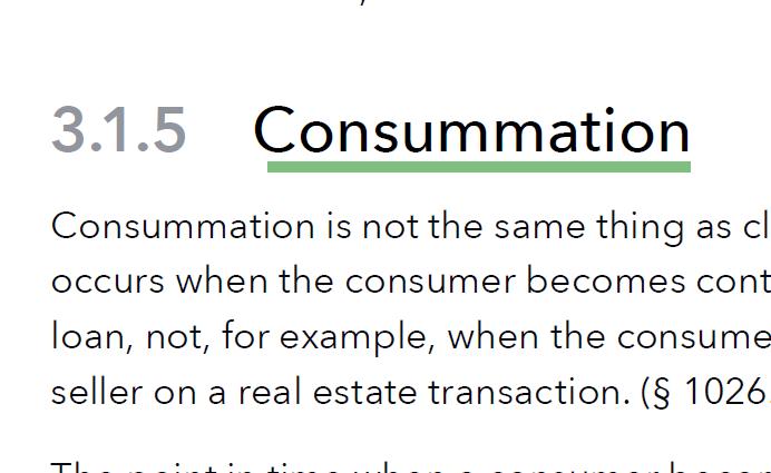 Mortgage Consummation Definition