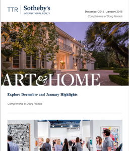 TTR Sotheby's Art and Home magazine