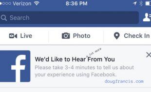 Screen capture Facebook