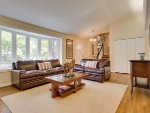 Living Room in Split level home
