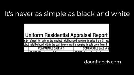 real estate appraisal stress