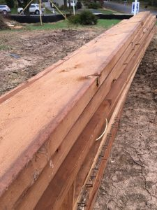 Stacked Lumber removed from Vienna rambler