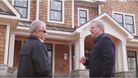 Doug Francis and custom home builder Rob Fisher in 2017
