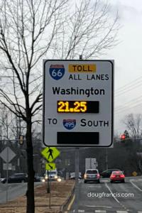 Toll in Falls Church to Washington DC