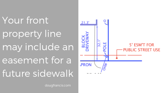 Sidewalk easements are common in Vienna VA and Fairfax County