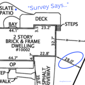 House location survey snapshot