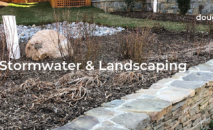 Landscaping stormwater areas in new homes in Vienna VA
