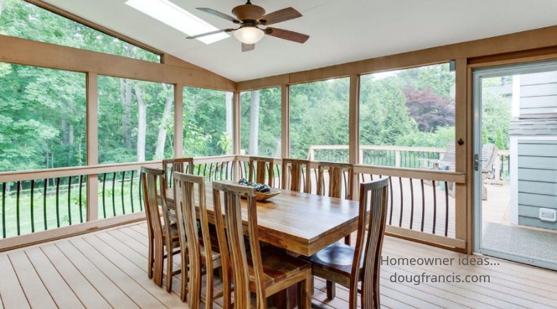 Adding a screened in porch improves the lives of home owners in Vienna VA