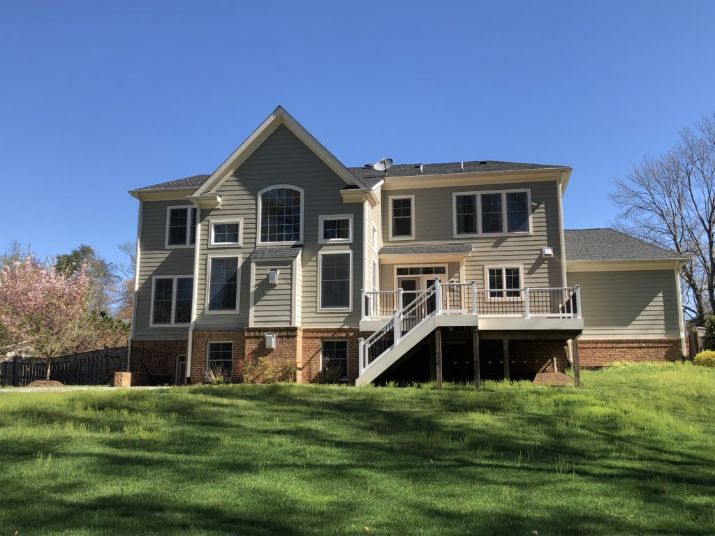 Custom home in Vienna VA on large lot with big yard
