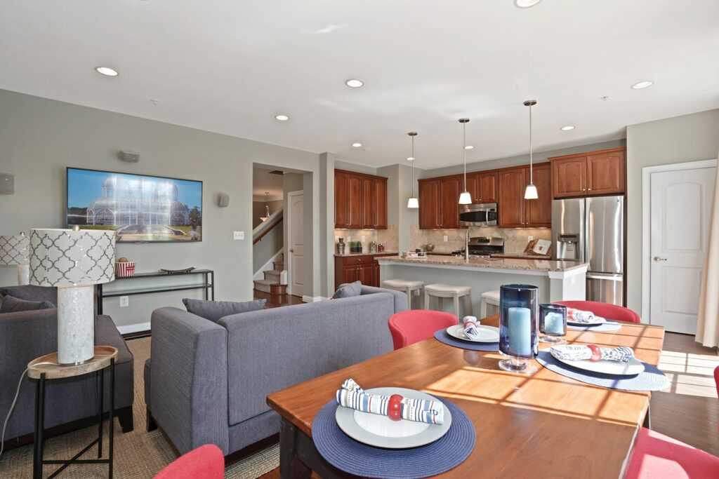 Staged kitchen for real estate marketing