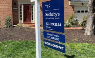 Under contract real estate sign Vienna VA